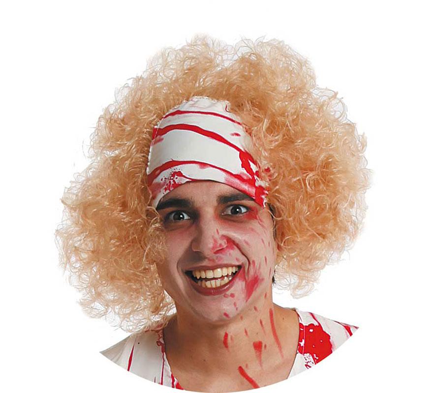 Peluca de Terror con pañuelo para Halloween.