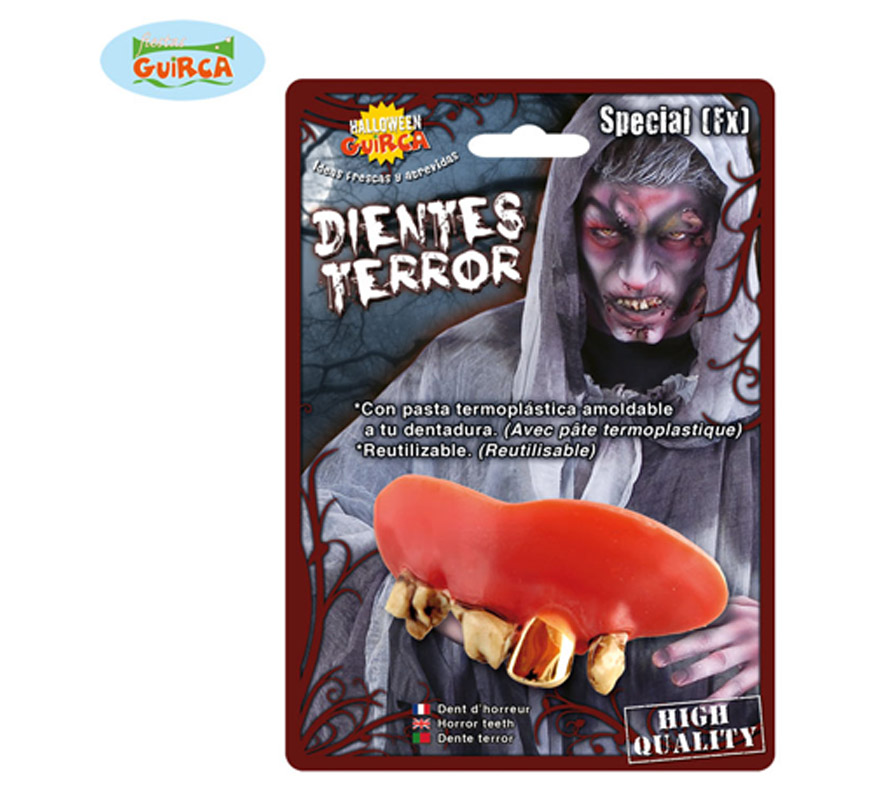 Dientes o dentadura de Monstruo para Halloween.