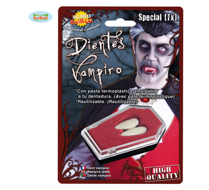Colmillos de Vampiro grandes para Halloween.