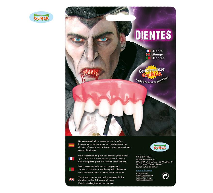 Dientes de Vampiro o Drácula para Halloween.