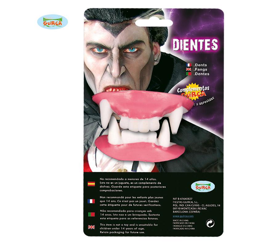 Dientes de Drácula o Vampiro para Halloween.