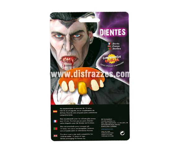 Dentadura de Monstruo para Halloween.
