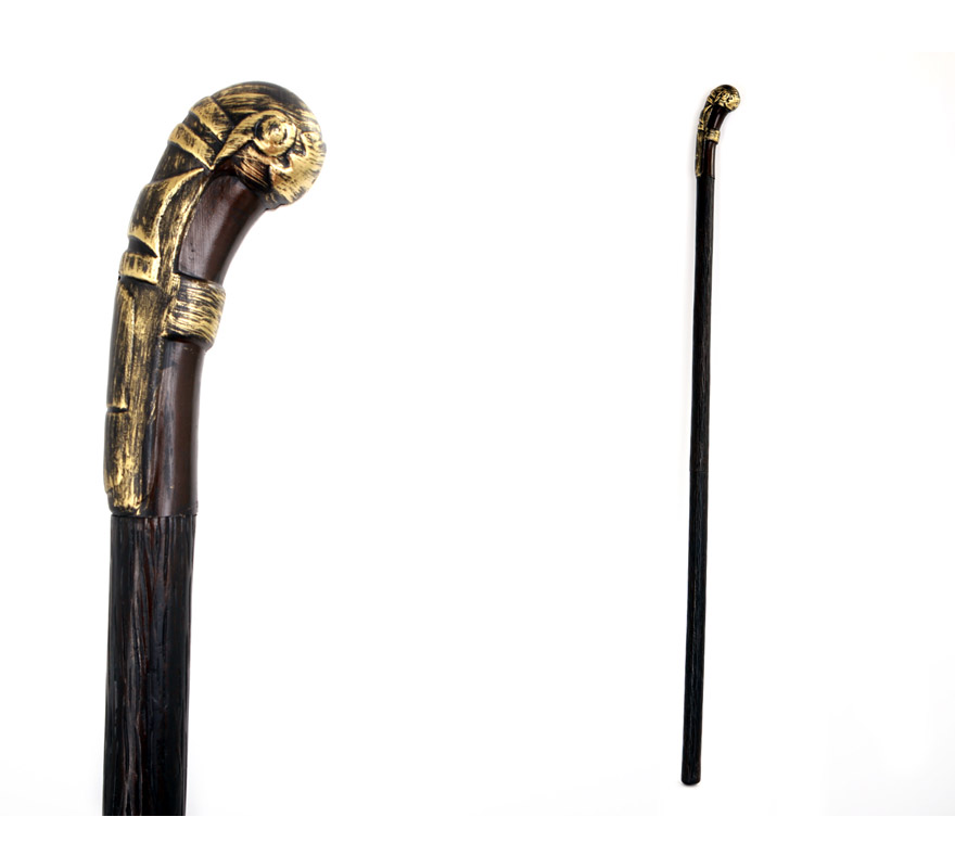 Bastón Conde Drácula con el mango curvado de 140 cm, de plástico. También sirve como Bastón de Lord para los disfraces de Época.