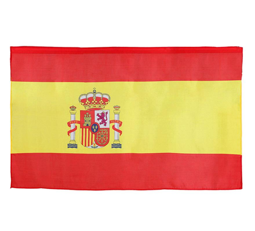 Bandera de España de 135x80 cm. Ideal para animar a la Selección Española en el Mundial o Eurocopa. ESPAÑA!! y para decorar en cualquier Fiesta y en la Feria de Abril.