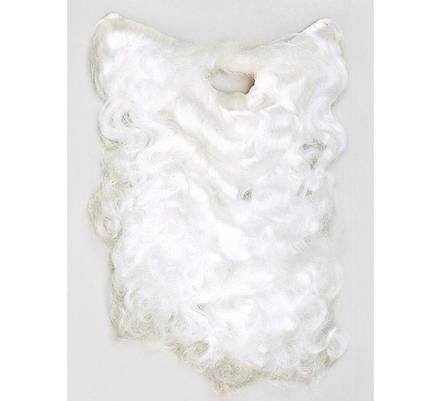Barba de color blanco para disfraz de Papa Noel. También para Rey Mago Melchor.