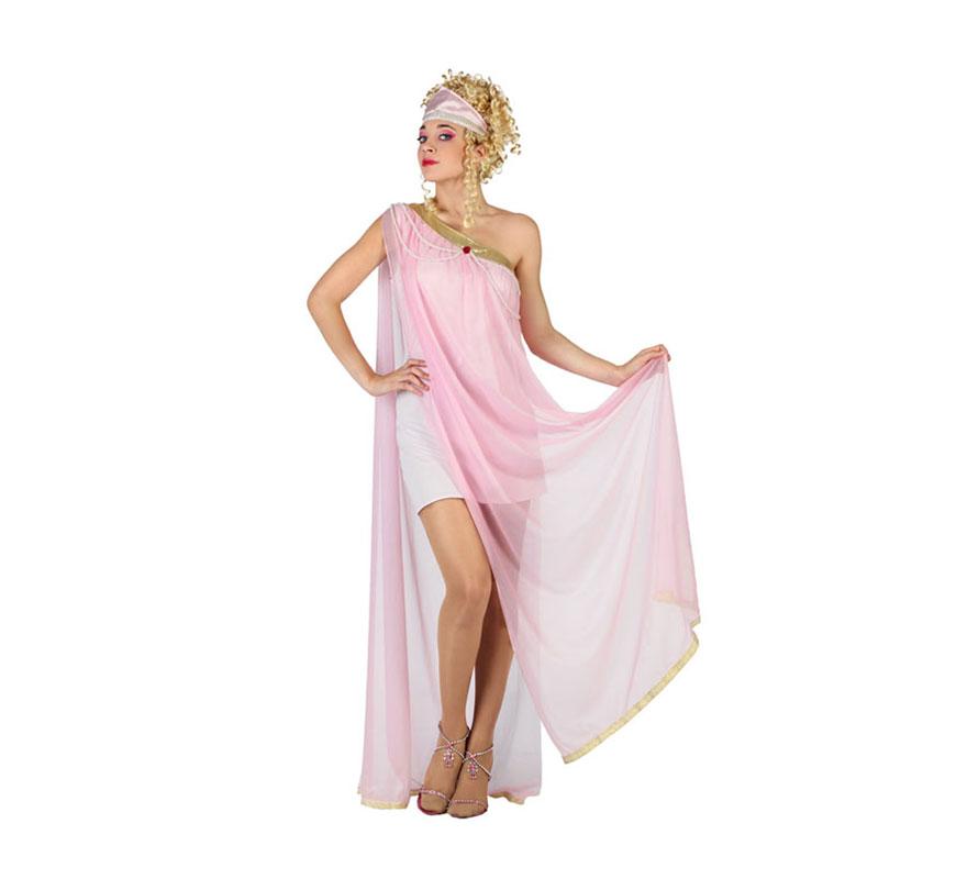 Disfraz de Diosa Griega con tul rosa para mujer. Talla XL = 44/48. Incluye vestido con tul rosa y tocado.Peluca y zapatos NO incluidos. La peluca la podrás encontrar en nuestra sección de Accesorios.