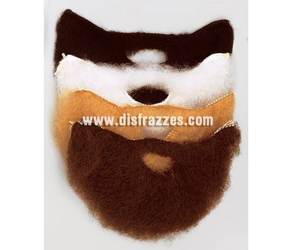Barba con bigote mediana en color blanco. Es adecuada para disfraces de niños de Reyes Magos, ya que no es grande. También valdría como barba de Papá Pitufo.