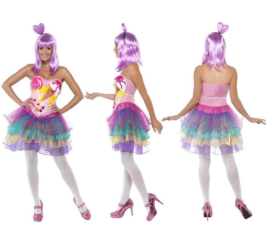 Disfraz Candy de Reina del Pop para Mujer talla S 36/38. Disfraz Único y de Alta Calidad con el que podrás imitar el vestuario del icono del Pop actual