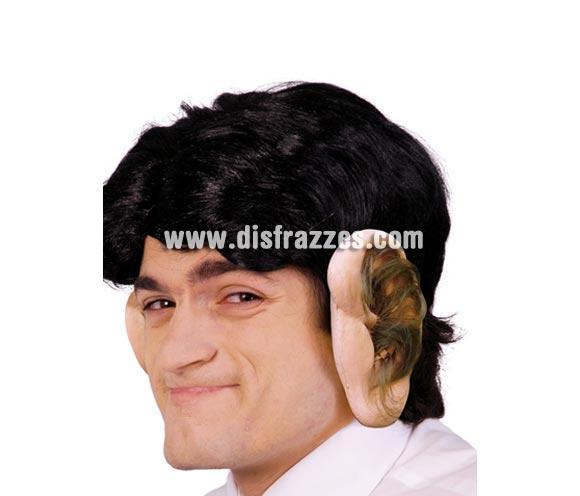 Orejas grandes de látex con pelo.