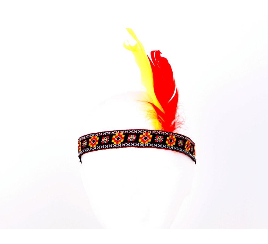Cinta de Indio o de India con plumas.