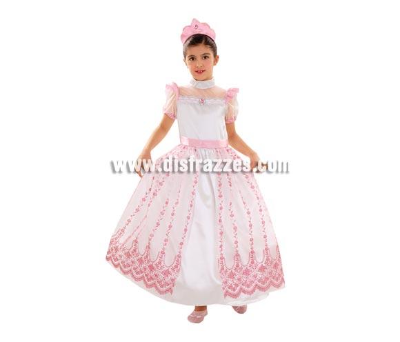 Disfraz de Princesa Rosa para niñas de 10 a 12 años. Incluye vestido y diadema. Perfecto para regalar.