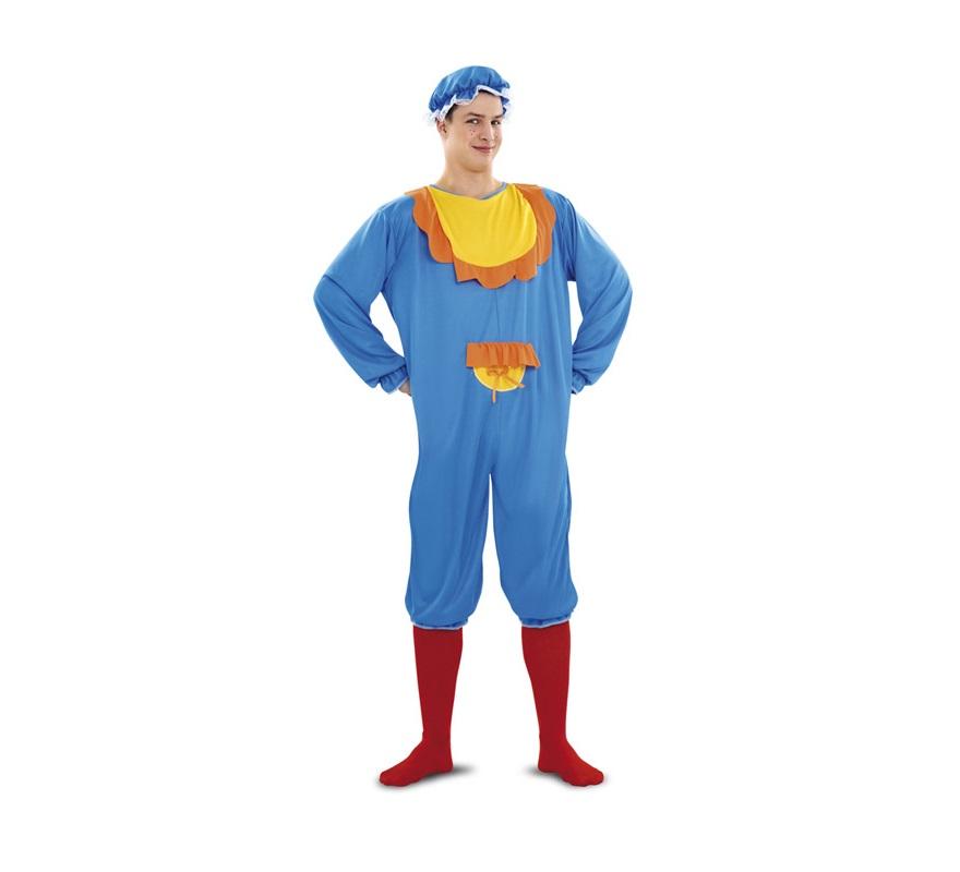 Disfraz de Bebé Azul para hombre. Talla standar M-L = 52/54. Incluye gorro y traje.