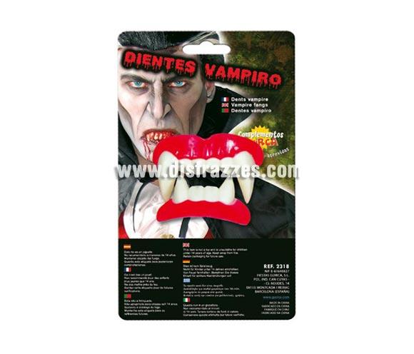 Dientes o Dentadura de Vampiro para Halloween.