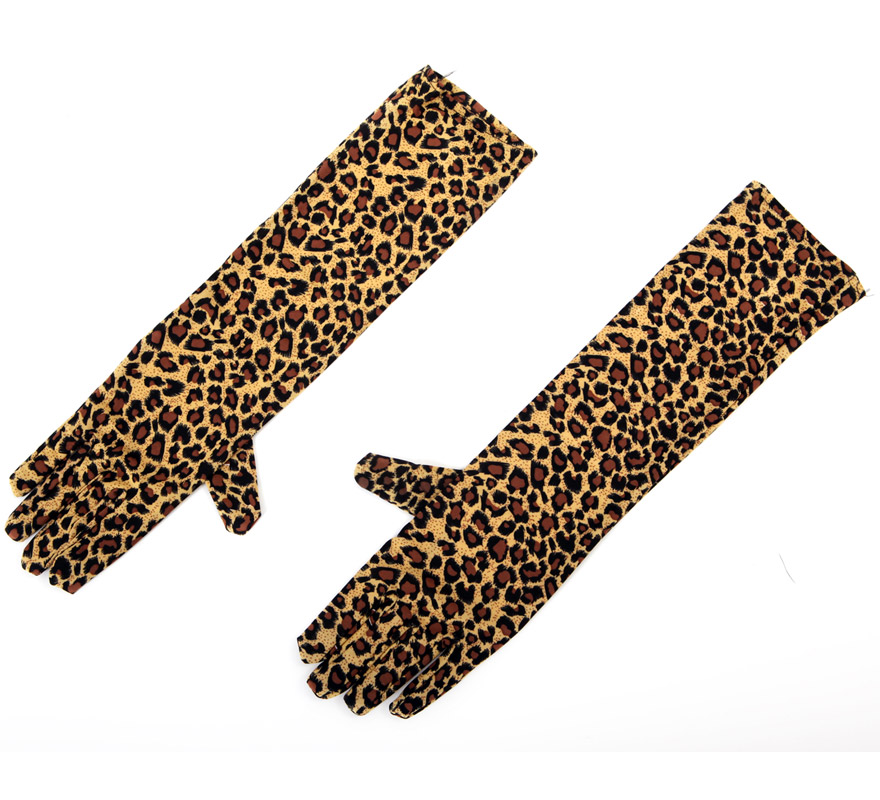 Guantes de Leopardo de 40 cm.