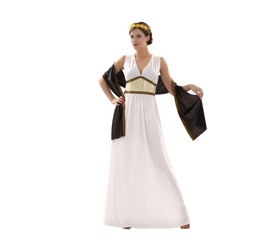 Disfraz de Diosa Griega talla M-L para mujer. Talla standar 38/42. Incluye vestido, tocado y chal.