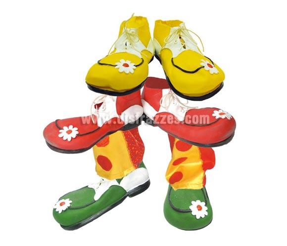 Par de Zapatos o Zapatones de Payaso de látex para adulto. Colores surtidos. Precio por unidad, se venden por separado. Medida 30cm.