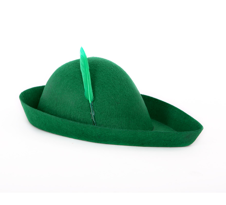 Sombrero Robin Hood verde.