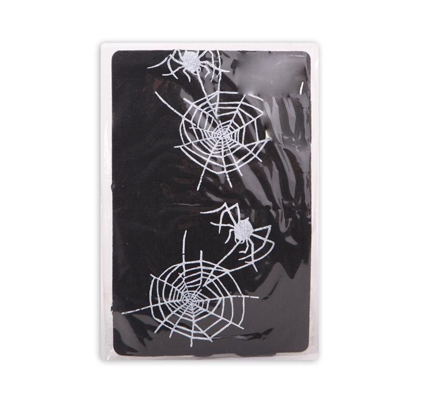 Pantys negras con Arañas blancas para Halloween. Talla Universal.
