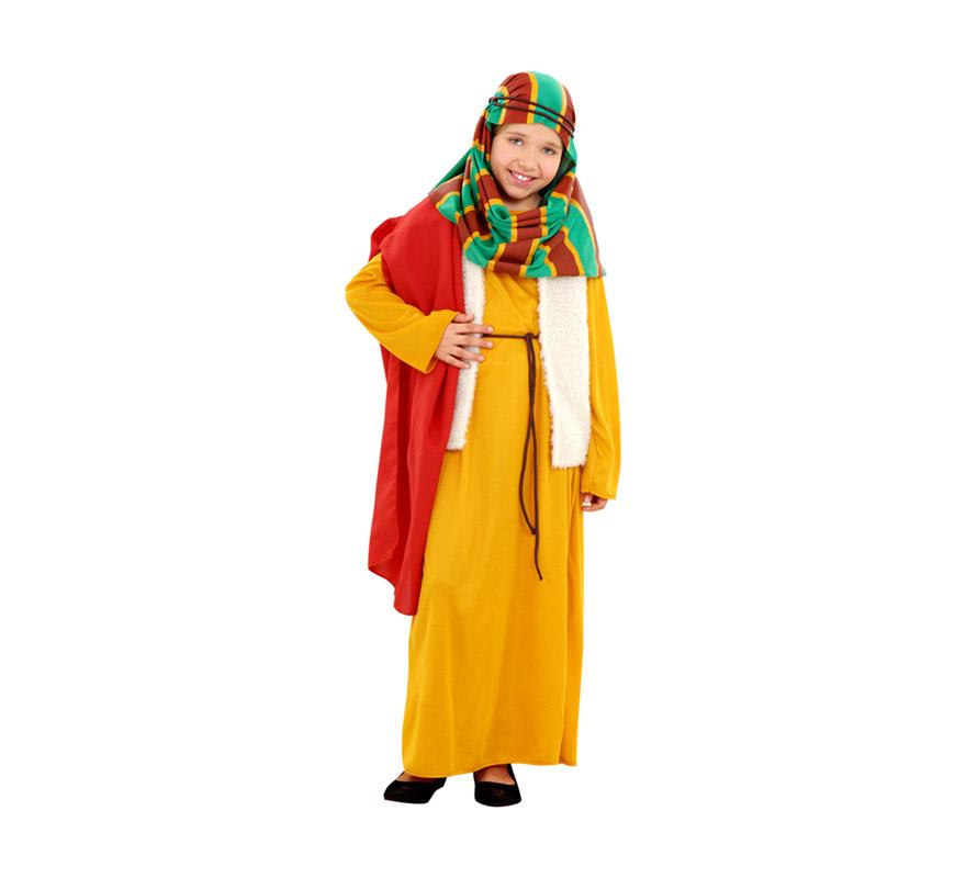 Disfraz barato de Hebrea amarilla para niñas de 10 a 12 años