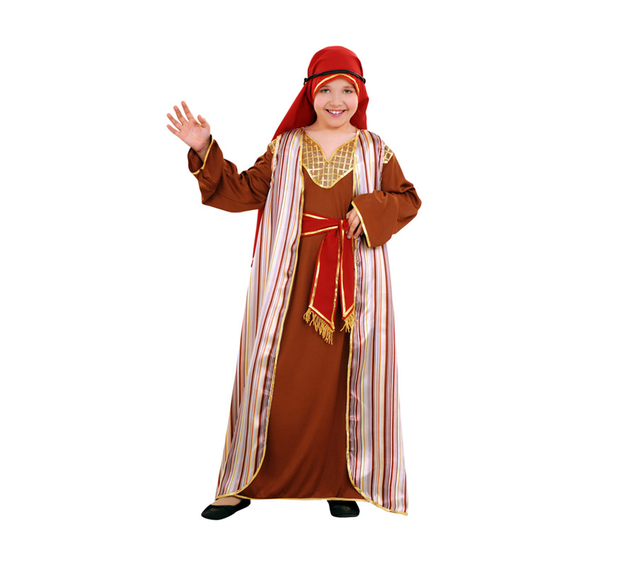 Disfraz barato de Hebrea marrón para niñas de 5 a 6 años
