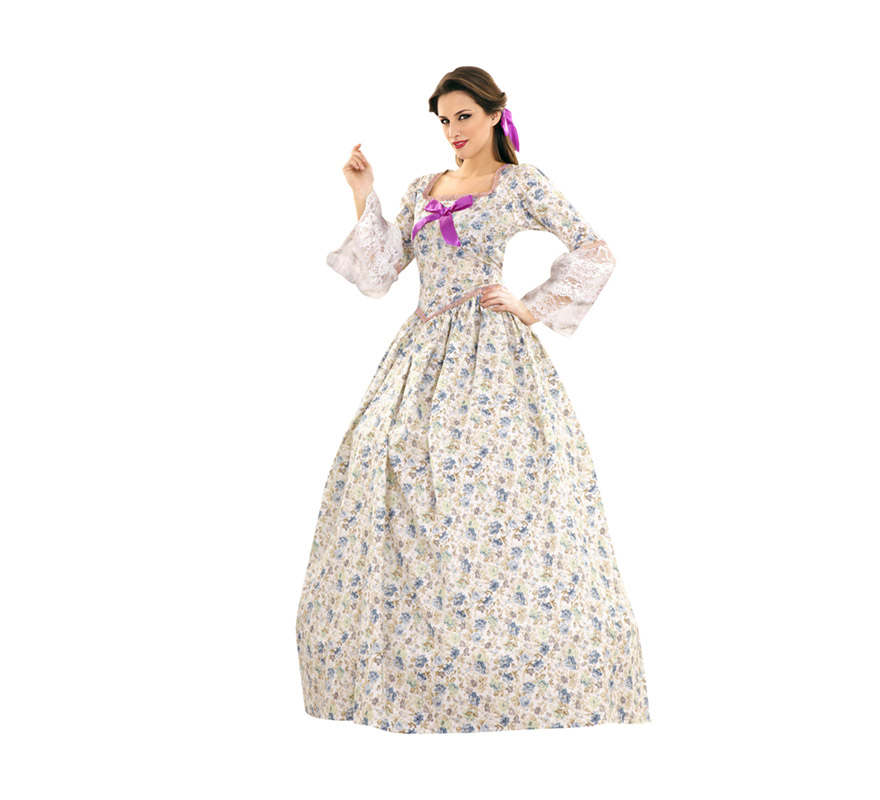 Disfraz de Dama Sureña para mujer. Talla standar M-L = 38/42. Incluye vestido y cancán.