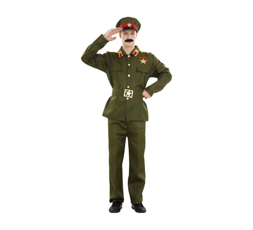 Disfraz de Stalin o General para hombre. Talla standar M-L 52/54. Incluye gorra, chaqueta, cinturón y pantalón.