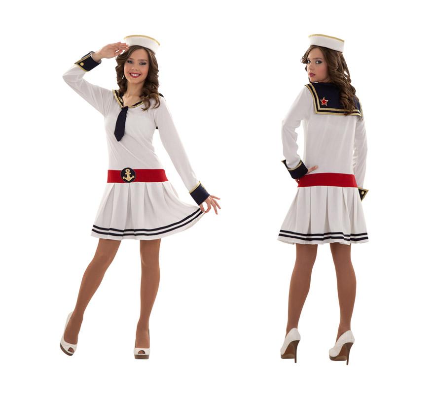 Disfraz de Marinerita o Marinera para mujer talla M-L 38/42. Incluye vestido y gorro.