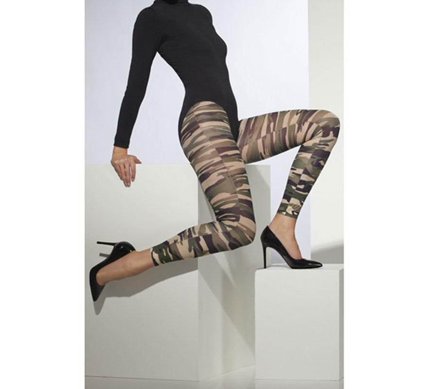 Leggings de Camuflaje. Talla única o universal. Artículo Sexy de Gran Calidad para combinar con disfraces del ejército o militares.