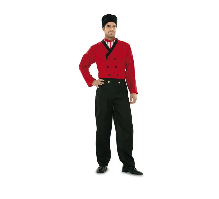 Disfraz de Holandés para hombre. Talla standar M-L = 52/54. Incluye gorro, pechera, chaqueta y pantalón.