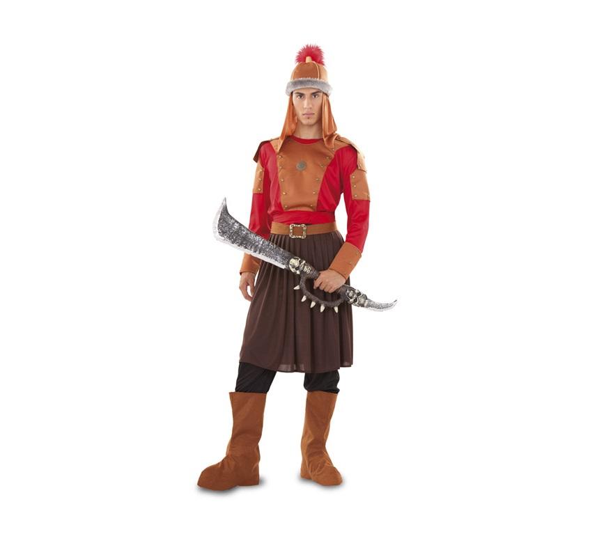 Disfraz de Gengis Kan para hombre. Talla standar M-L 52/54. Incluye gorro, camisa, pantalón, falda, fajín, cinturón y cubrebotas. Espada NO incluida, podrás verla en la sección de Complementos - Armas. Éste disfraz és del Mongol de la película de Gengis kan.