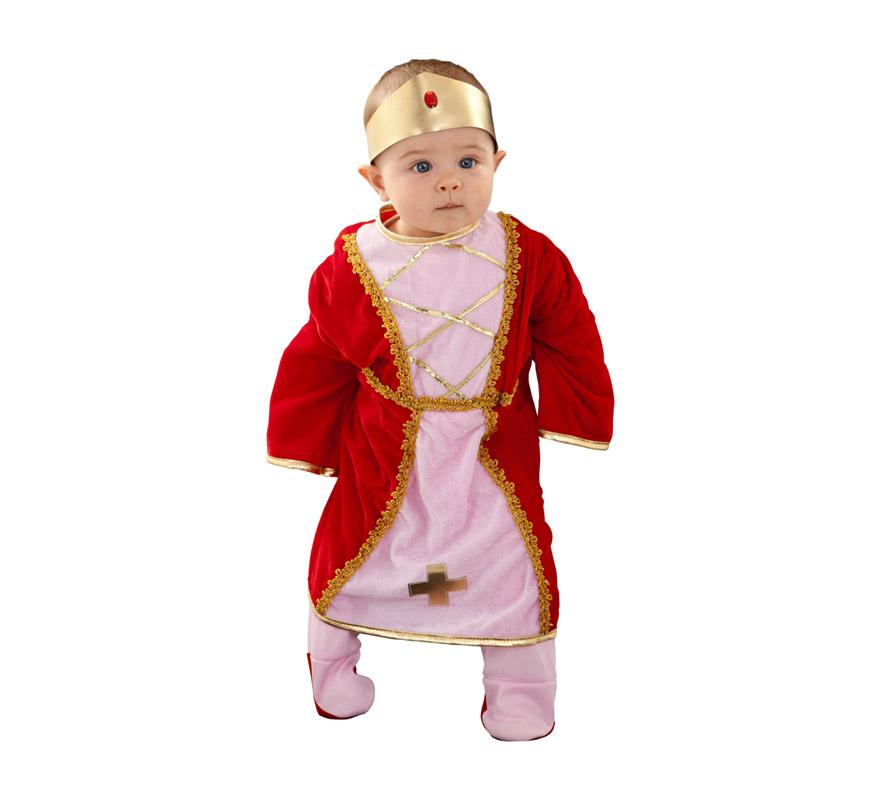 Disfraz de Doña Jimena para bebé de 6 a 12 meses. Incluye mono y diadema.