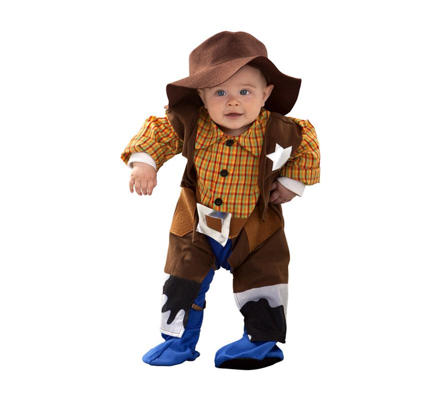 Disfraz de Billy El Niño o de Vaquero para bebés de 6 a 12 meses. Incluye mono y sombrero.