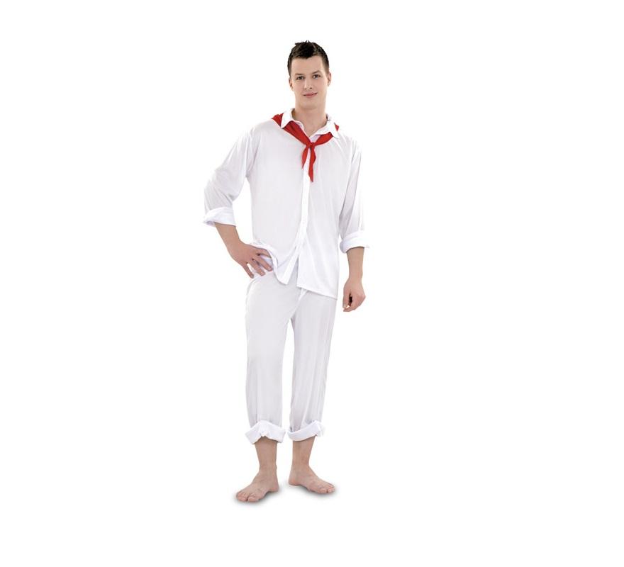 Disfraz de Sudamericano para hombre. Talla standar M-L 52/54. Incluye pañuelo, camisa y pantalón. También sirve para disfrazarte para los encierros de Pamplona en San Fermin.