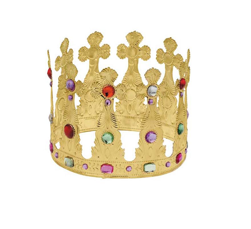Corona alta de Rey Mago de metal de alta Calidad. Perfecta también para los disfraces de Rey Medieval.
