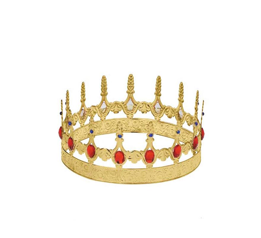 Corona de Rey Mago de metal de alta Calidad. Ideal también para disfraces de Rey Medieval.