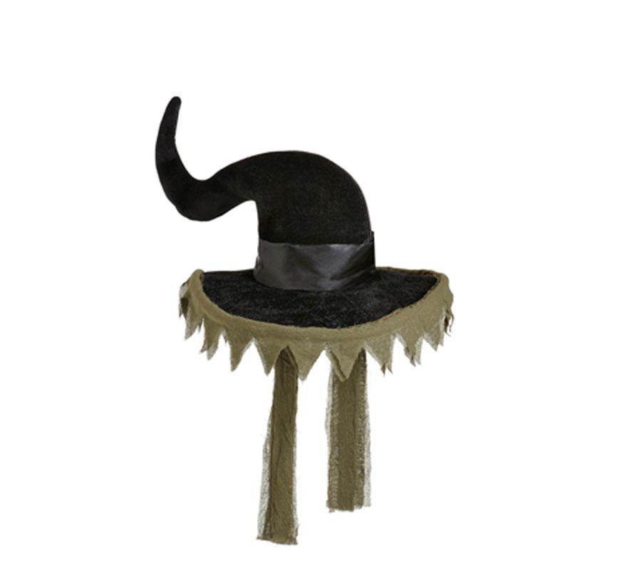 Sombrero de Bruja lujo para Halloween.