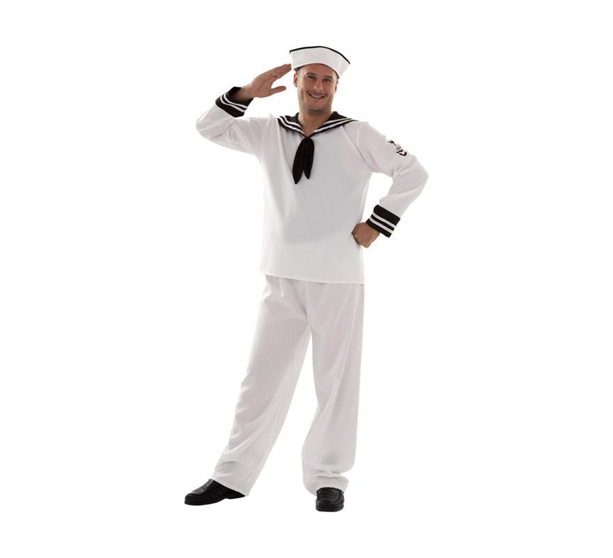 Disfraz barato de Marinero adulto para Carnaval. Talla XXL = 58/62. Incluye gorra, camisa y pantalón.