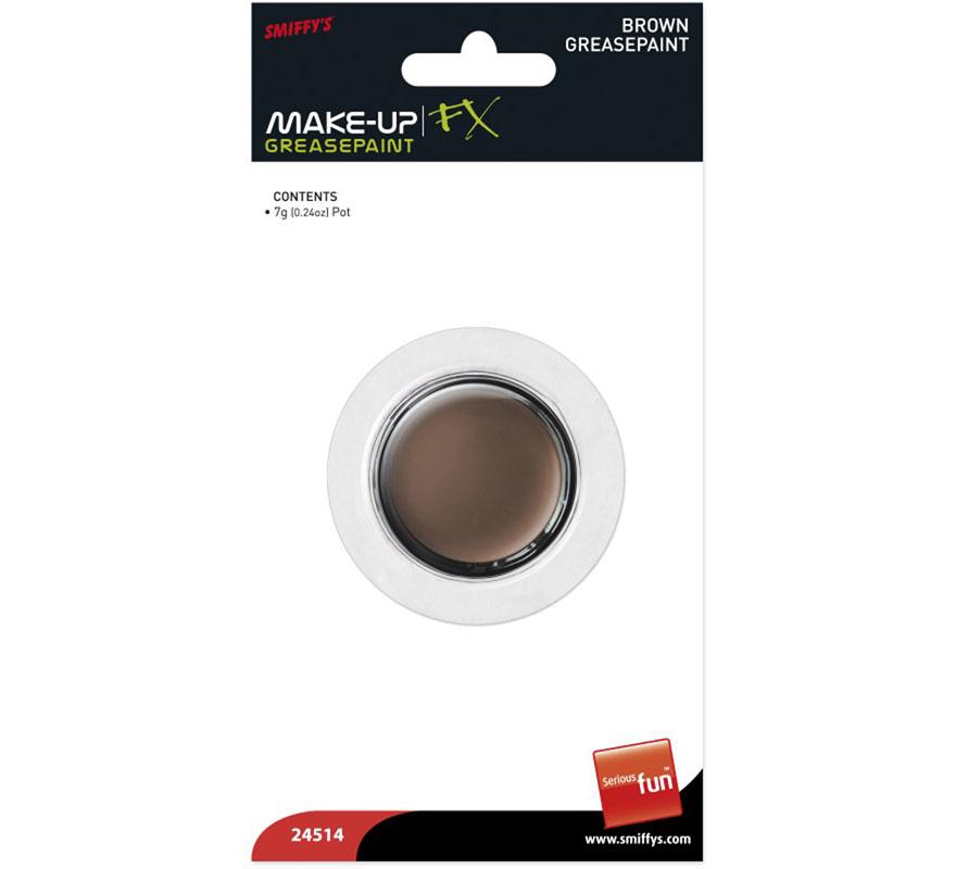 Maquillaje Graso Marrón bote de 7 g. Fácil de aplicar y de eliminar, sólo con agua y jabón o desmaquillador graso.