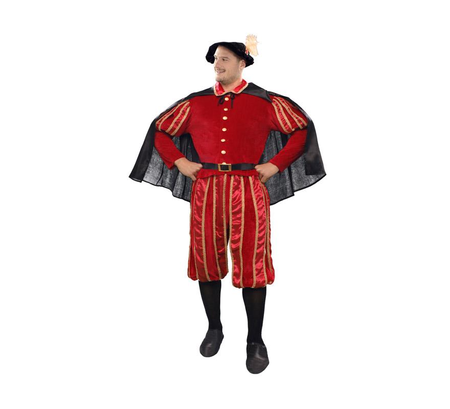 Disfraz barato de Don Juan para hombre talla XL