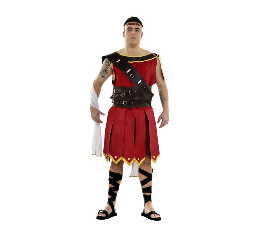 Disfraz de Guerrero para hombre. Talla XL 54/58. Incluye vestido, cinturón, bandolera y cinta de la cabeza. También se usa como disfraz de Centurión Romano para teatros o Cabalgatas en Navidad.