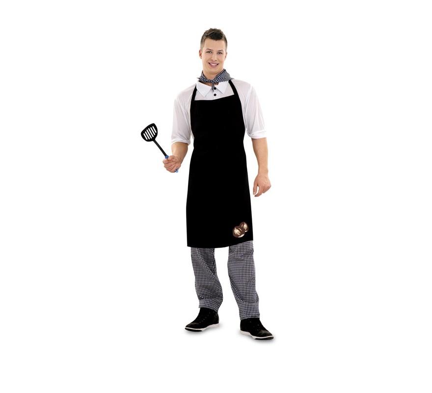 Disfraz de Castañero para hombre barato. Talla M-L 52/54. Incluye camisa, pantalón, delantal y pañuelo. También puede servir como disfraz de Cocinero.
