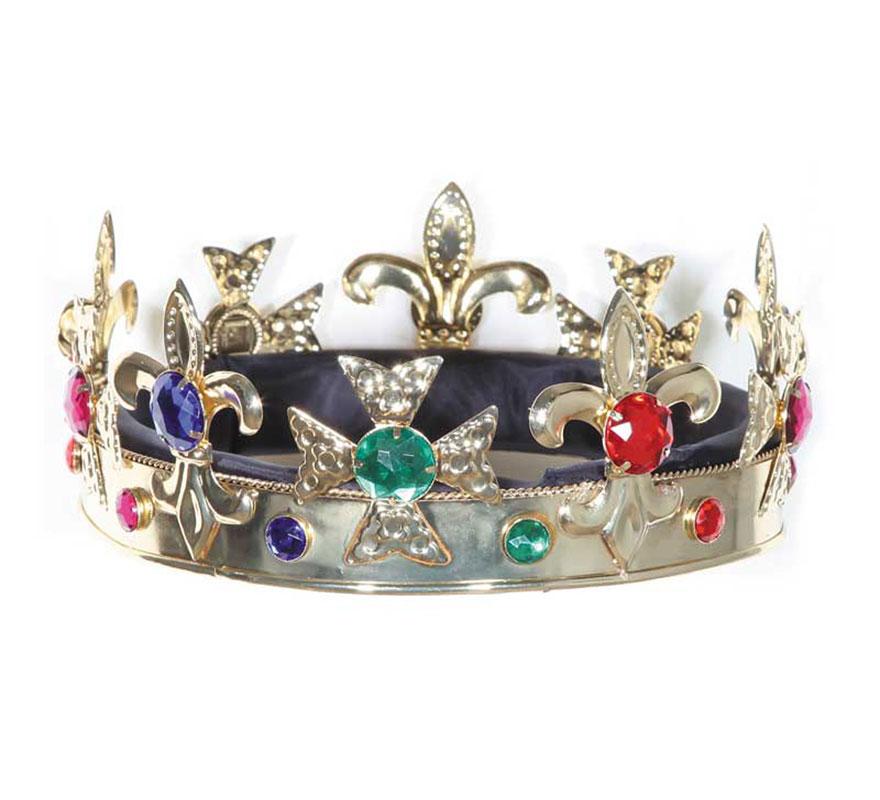 Corona de Rey Mago de metal alta Calidad. También es ideal para los disfraces de Rey Medieval.