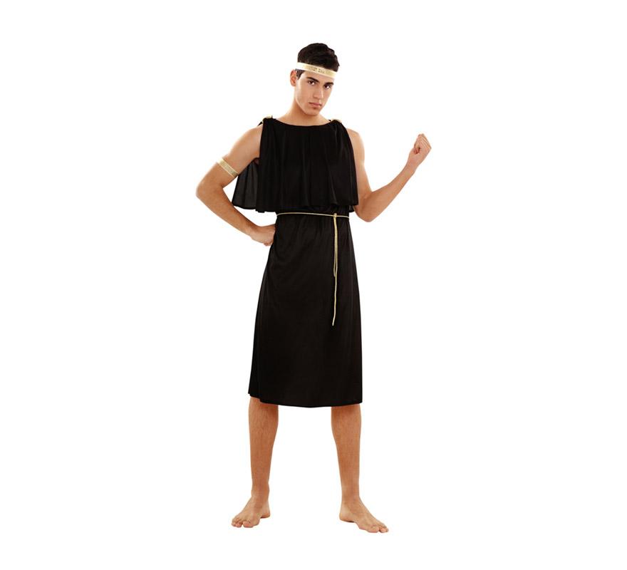 Disfraz de Dios Plebeyo para hombre. Talla Standar M-L = 52/54. Incluye cinta para la cabeza, cinta del brazo, túnica y cinturón. También sirve como disfraz de Griego para hombre.