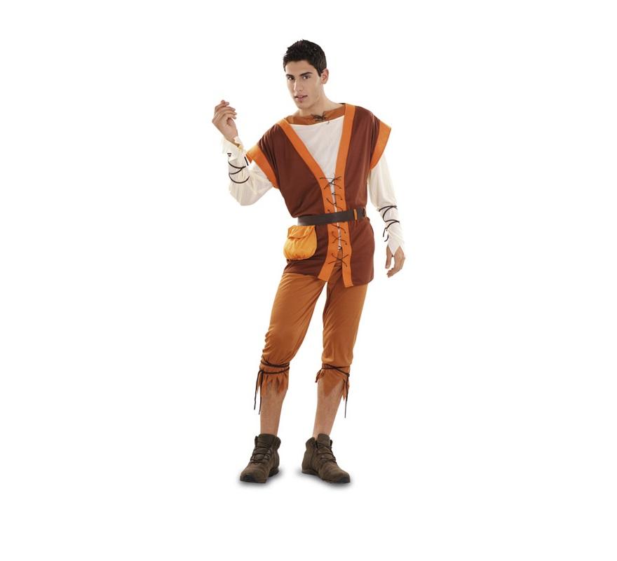 Disfraz barato de Campesino Medieval para hombre talla M-L