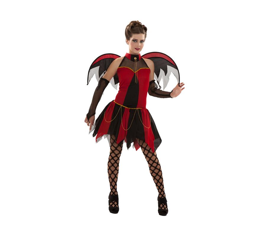 Disfraz de Vampiresa para chicas. Talla S 34/38 para chicas delgadas o adolescentes.