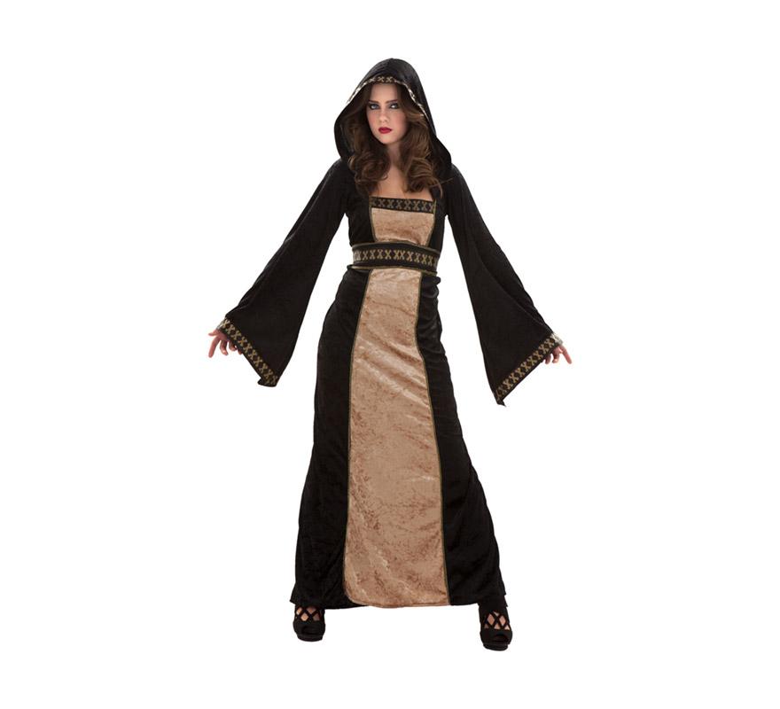 Disfraz de Doncella Gótica Medieval adulta para Halloween. Talla S 34/38 para chicas delgadas y adolescentes. Incluye vestido con capucha y cinturón. También serviría como disfraz de Doncella Medieval. ¡¡Compra tu disfraz para Halloween en nuestra tienda de disfraces, será divertido!!