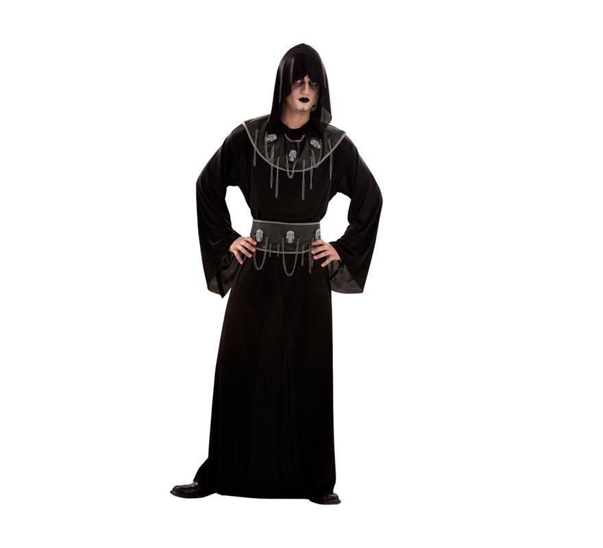 Disfraz Hombre Ejecutor de las Calaveras. Talla S 48/52 para chicos delgados y adolescentes. Incluye tgraje, cinturón y collarín.