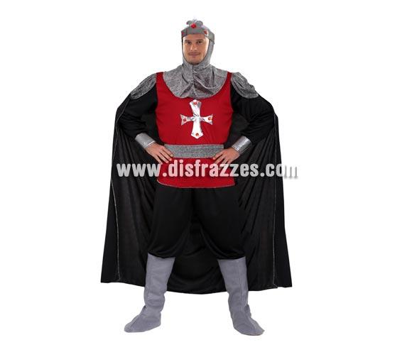 Disfraz de Soldado de Medieval para hombre. Talla XXL = 58/62. Incluye camisa con capa, pantalón, cinturón, verdugo y cubrebotas. Traje de Caballero Medieval de hombre para Ferias Medievales.