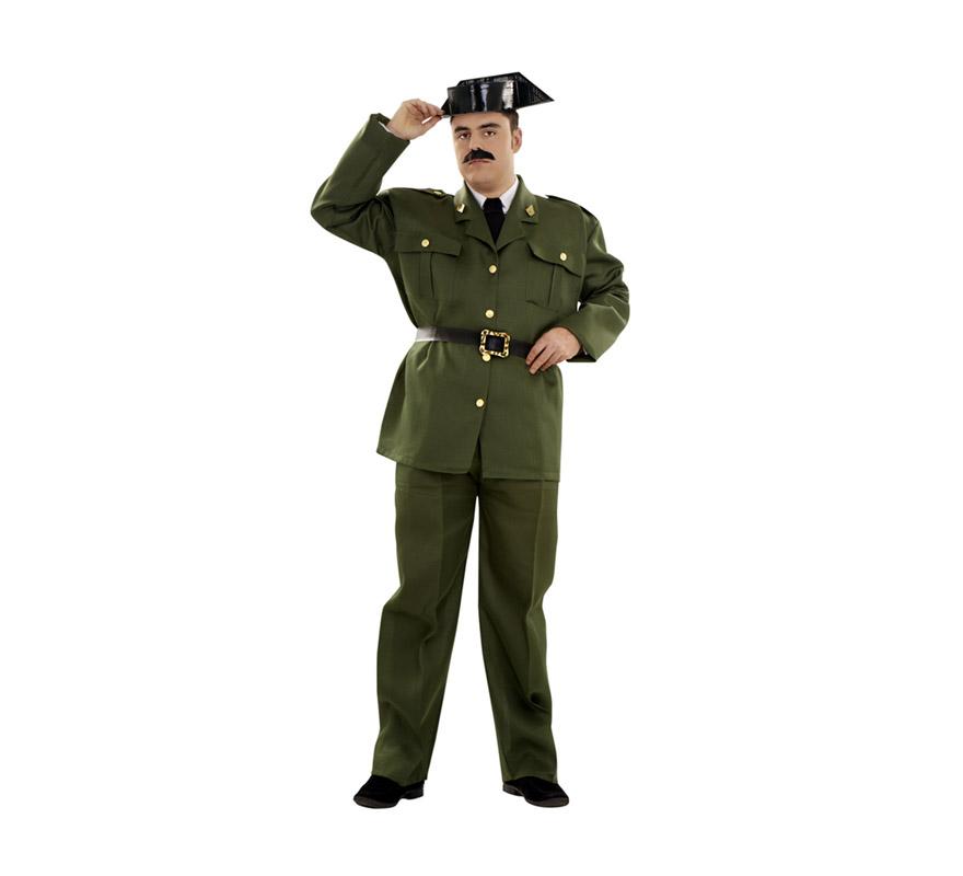 Disfraz barato de Guardia Civil adulto. Talla XXL = 58/62. Incluye Tricornio, chaqueta, cinturón y pantalones. ¡¡¡Cuidado con la Benemérita!!!
