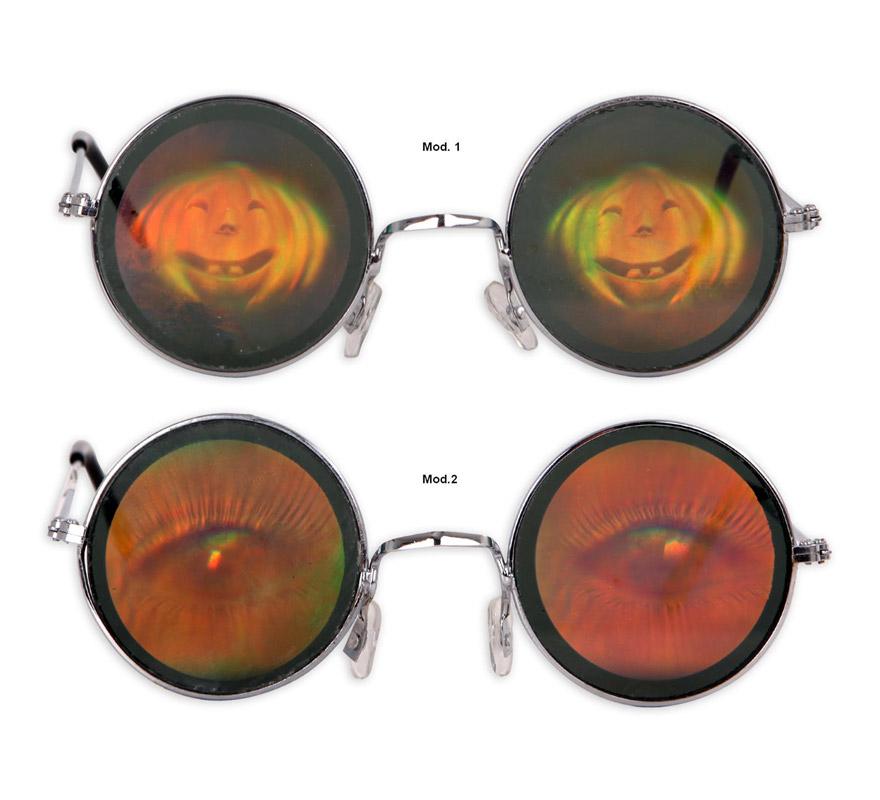 Gafas Holográficas 2 modelos surtidos de 13 x 4.5 cm. Precio por unidad, se venden por separado.